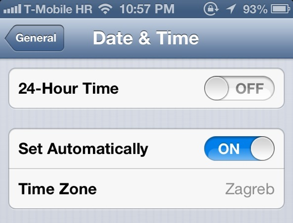 Check iOS Date and Time