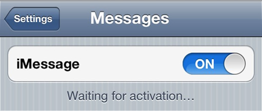 iPhone iMessage Waiting for Activation