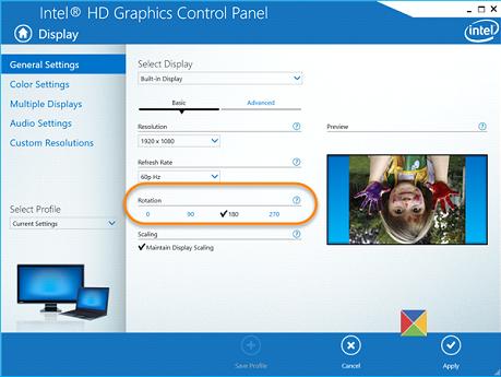 HD Graphic Control Panel