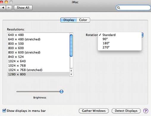 imac display settings