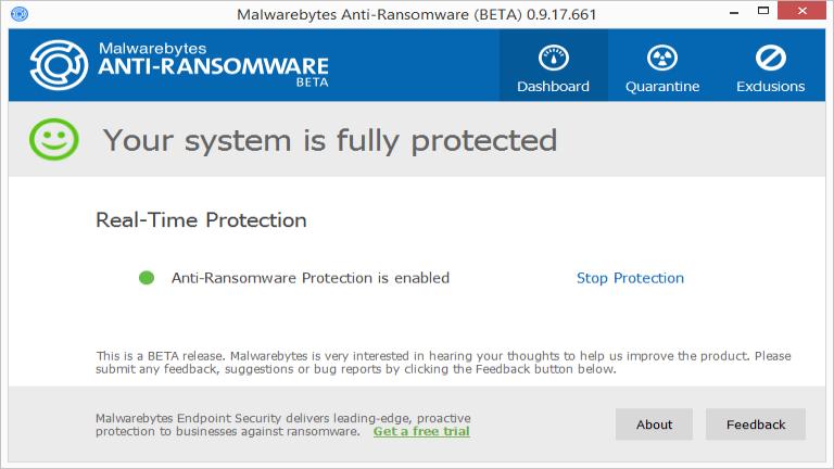 Malwarebytes Anti Ransomware Beta
