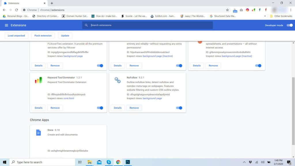 Remove Google Chrome Extension