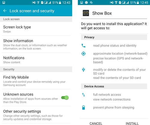 how to install showbox apk on roku