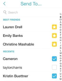 Snapchat Screen 2