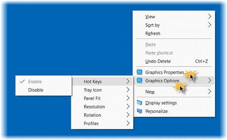 Windows Graphic Option