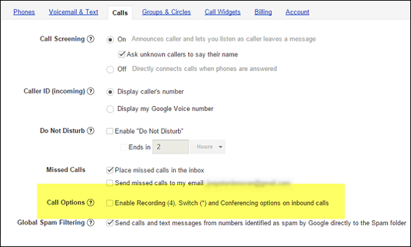 Google Voice to Record a Phone Call on an iPhone