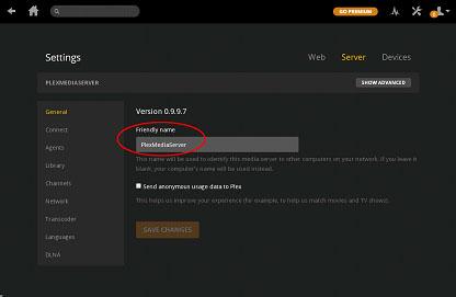 server side settings