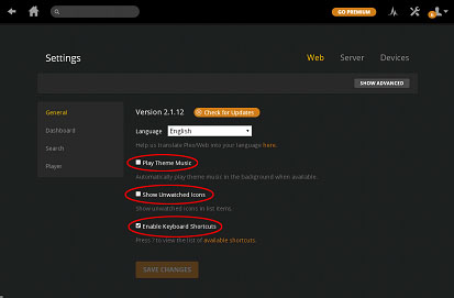 client side settings