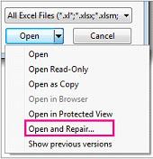 Open and Repair