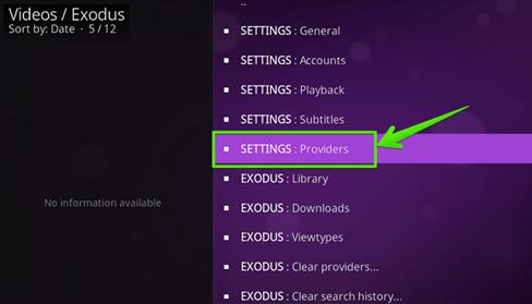 Click Settings - Providers