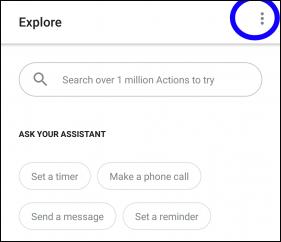 choose the settings