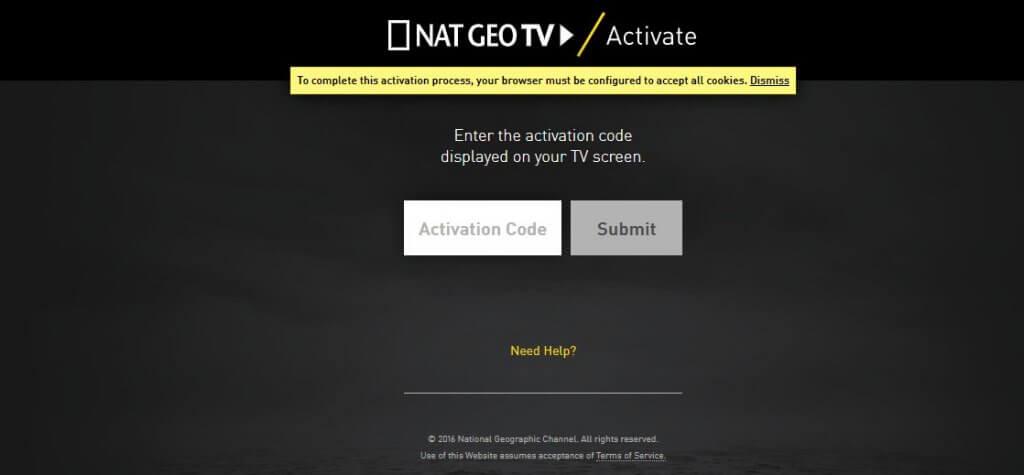 http://natgeotv.com/activate