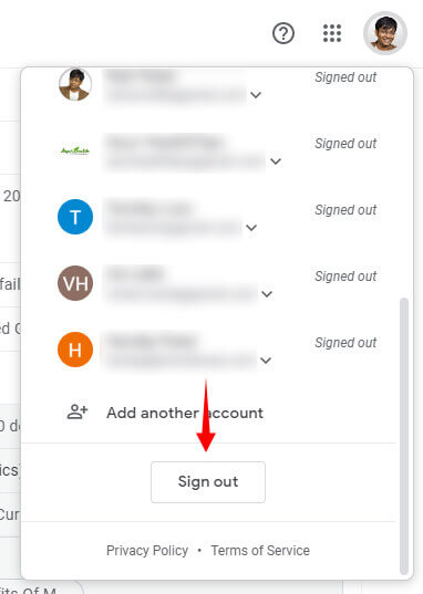 Sign Out of Gmail Account